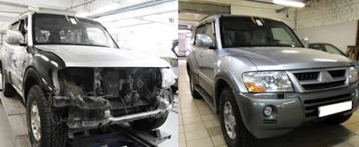 Фото до и после восстановления кузова