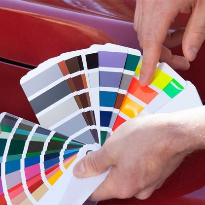 Фото пример подбора краски